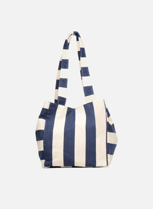 Handtassen Pieces Gillian Canvas Shopper Blauw detail