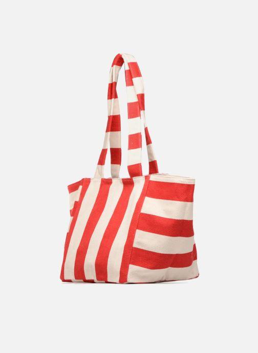 Pieces Gillian Canvas Shopper (rot) - Handtaschen bei Sarenza.de (343844)
