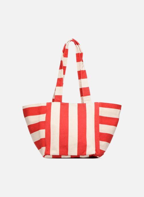 Handtassen Pieces Gillian Canvas Shopper Rood voorkant