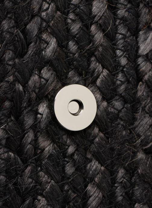 Sacs pochettes Pieces Gracia Straw Clutch Noir vue gauche