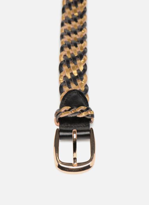 Cinturones Pieces Garbo Leather Belt Negro vista del modelo