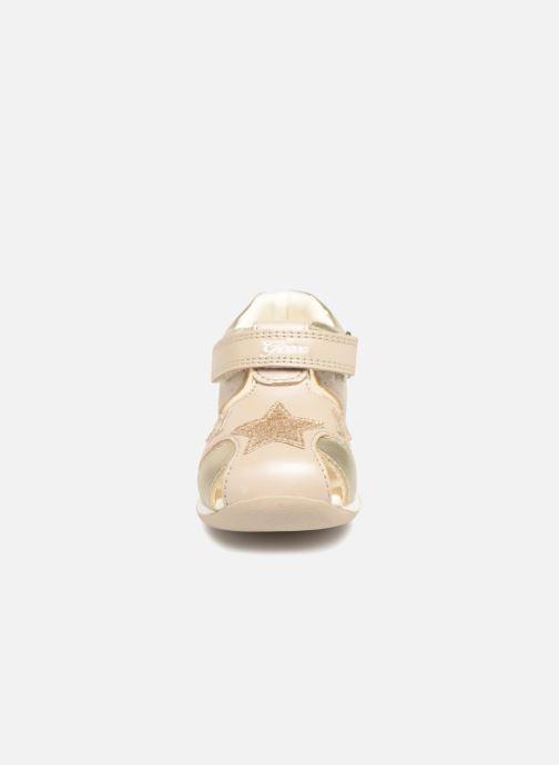 Sandales et nu-pieds Geox B EACH G. D  B820AD Or et bronze vue portées chaussures