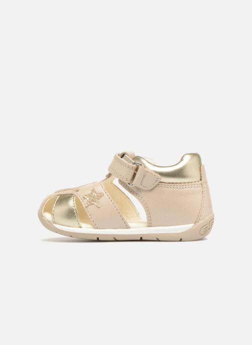 Sandales et nu-pieds Geox B EACH G. D  B820AD Or et bronze vue face