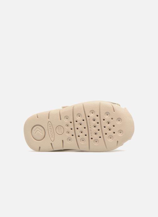 Sandales et nu-pieds Geox B EACH G. D  B820AD Or et bronze vue haut
