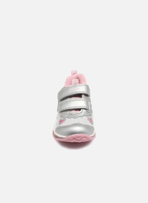 Baskets Geox B TODO G. A  B8285A Argent vue portées chaussures