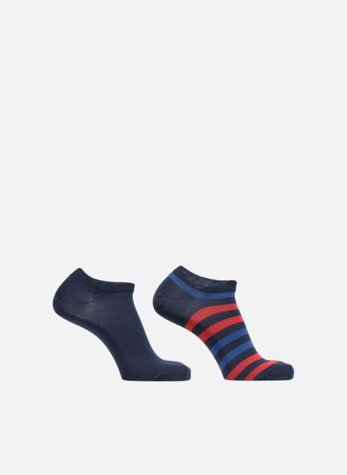 Chaussettes et collants Tommy Hilfiger Duo Stripe Sneaker Lot de 2 Bleu vue détail/paire