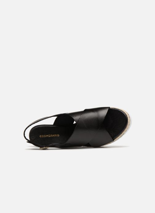 Espadrilles COSMOPARIS IPOMA Black view from the left
