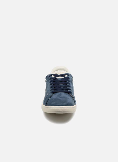 Baskets Lacoste CARNABY EVO 118 1 Bleu vue portées chaussures