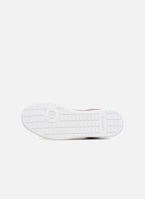 Baskets Lacoste CARNABY EVO 118 7 Argent vue haut