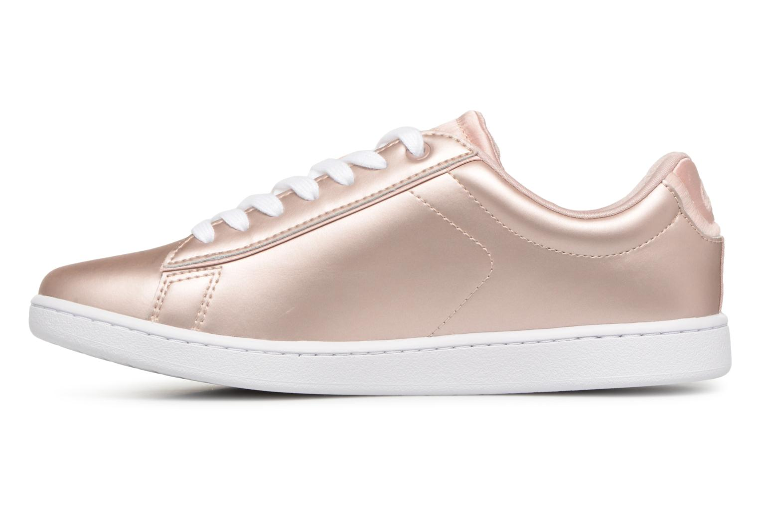 Baskets Lacoste CARNABY EVO 118 7 Argent vue face