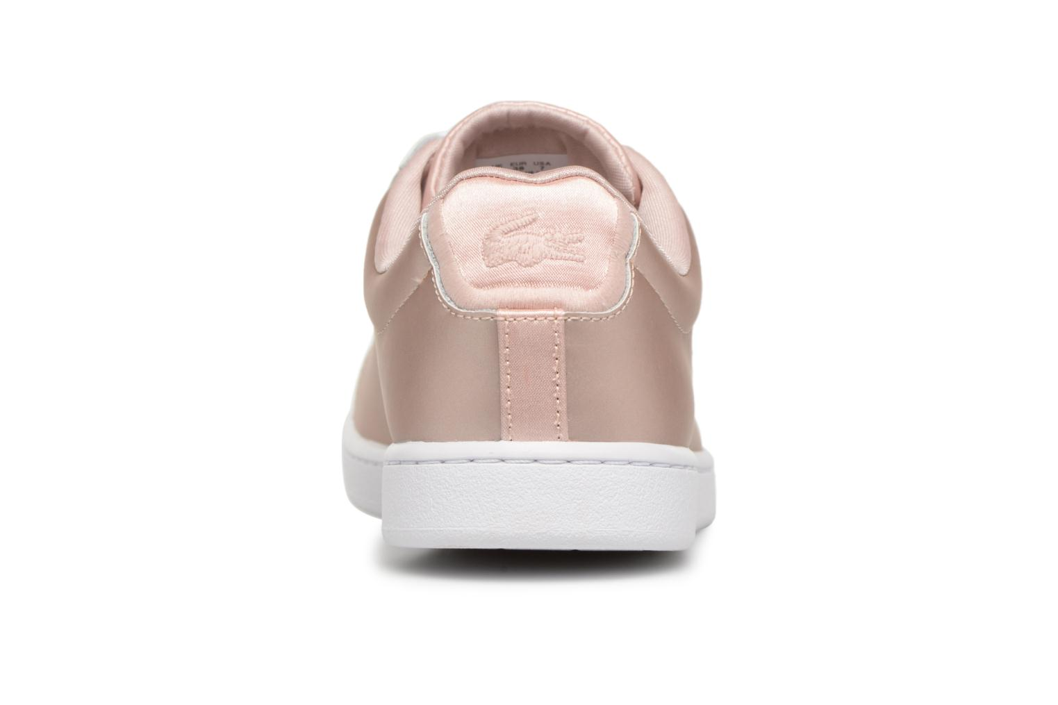 Baskets Lacoste CARNABY EVO 118 7 Argent vue droite
