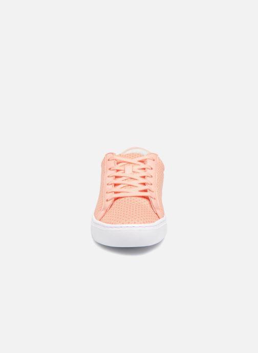Sneaker Lacoste L.12.12 LIGHTWEIGHT1181 orange schuhe getragen