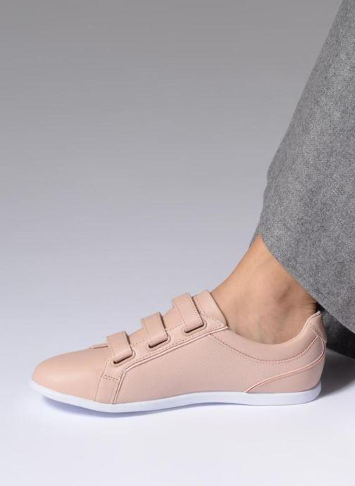 Sneaker Lacoste REY STRAP 118 1 rosa ansicht von unten / tasche getragen