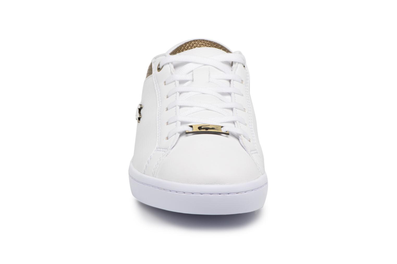 Baskets Lacoste STRAIGHTSET 118 1 Blanc vue portées chaussures