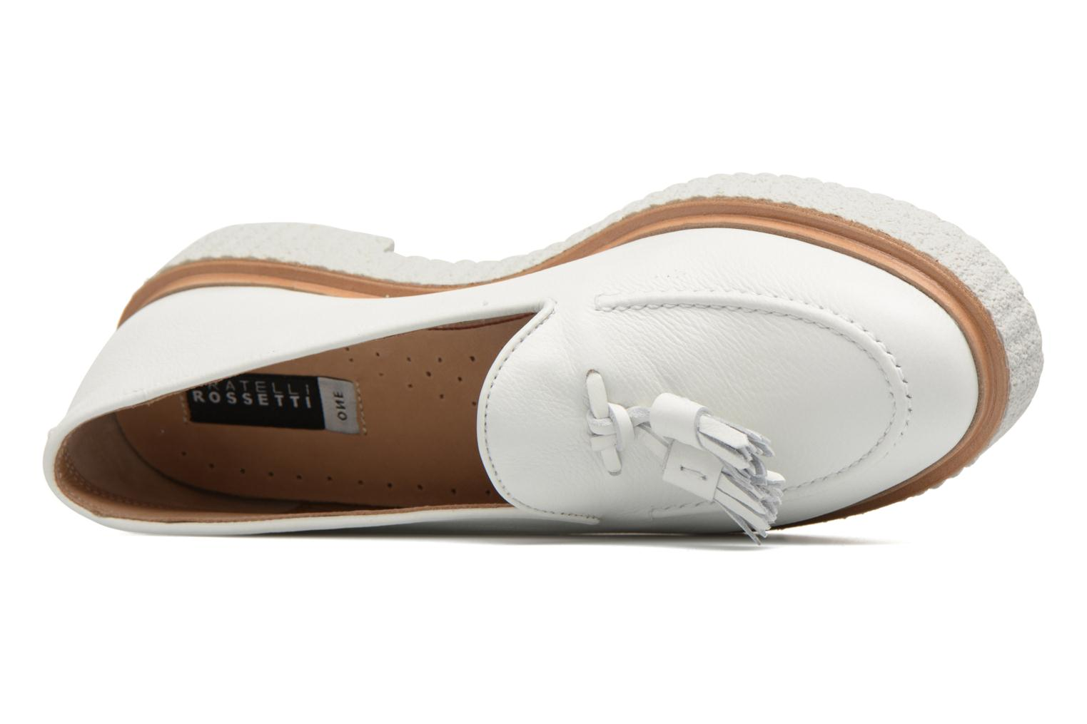 Loafers Fratelli Rossetti Lazu White view from the left