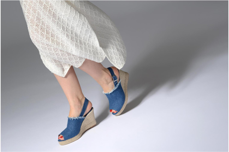 Espadrilles Made by SARENZA Bombays Babes Espadrilles #1 Bleu vue bas / vue portée sac