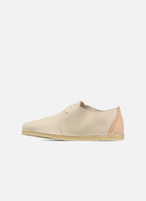 Zapatos con cordones Clarks Originals Ashton W Beige vista de frente