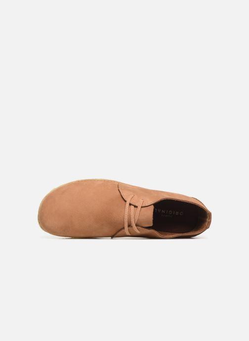 Zapatos con cordones Clarks Originals Ashton W Marrón vista lateral izquierda