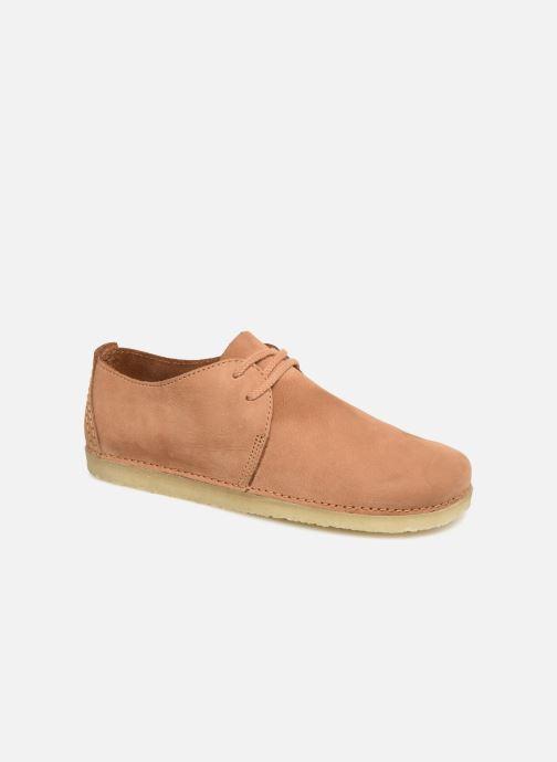 Chaussures à lacets Clarks Originals Ashton W Marron vue détail/paire