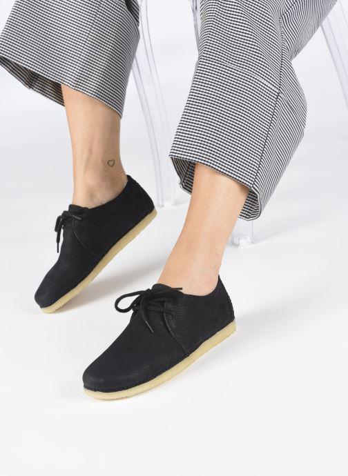 Zapatos con cordones Clarks Originals Ashton W Negro vista de abajo
