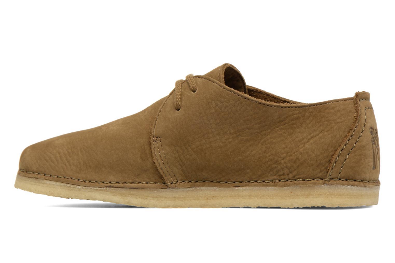 Chaussures à lacets Clarks Originals Ashton W Vert vue face