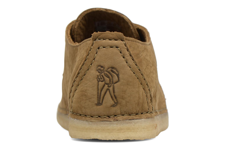 Chaussures à lacets Clarks Originals Ashton W Vert vue droite