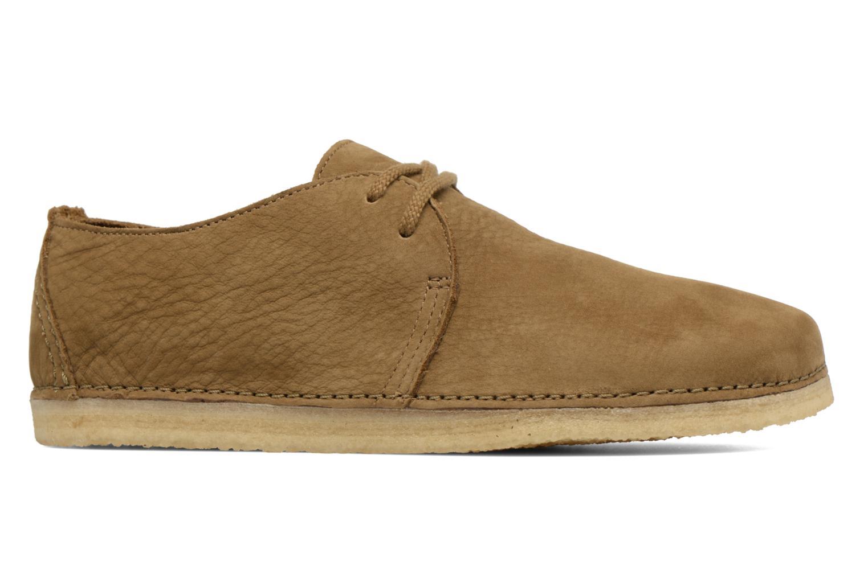 Chaussures à lacets Clarks Originals Ashton W Vert vue derrière