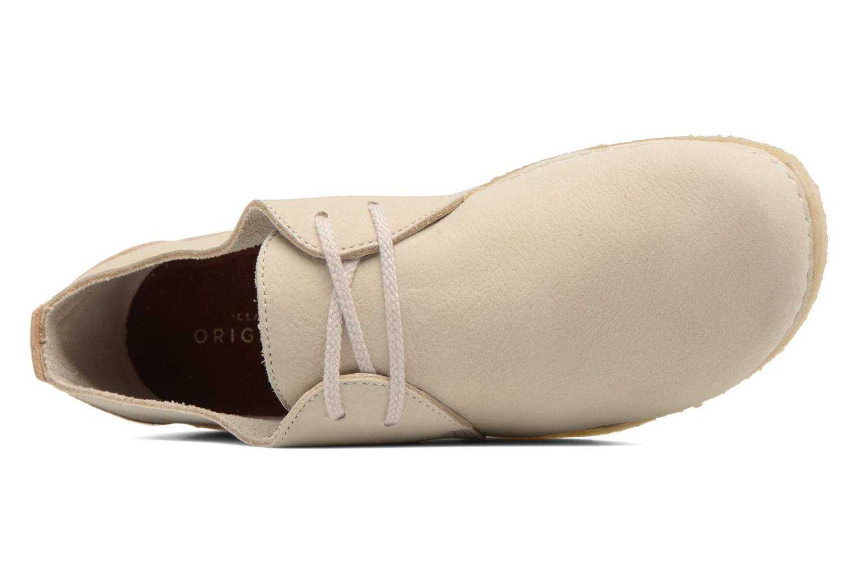 Chaussures à lacets Clarks Originals Ashton W Beige vue gauche
