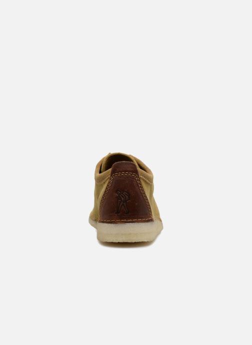 Zapatos con cordones Clarks Originals Ashton M Beige vista lateral derecha
