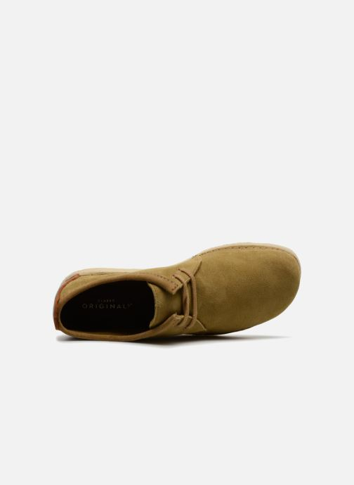 Zapatos con cordones Clarks Originals Ashton M Beige vista lateral izquierda