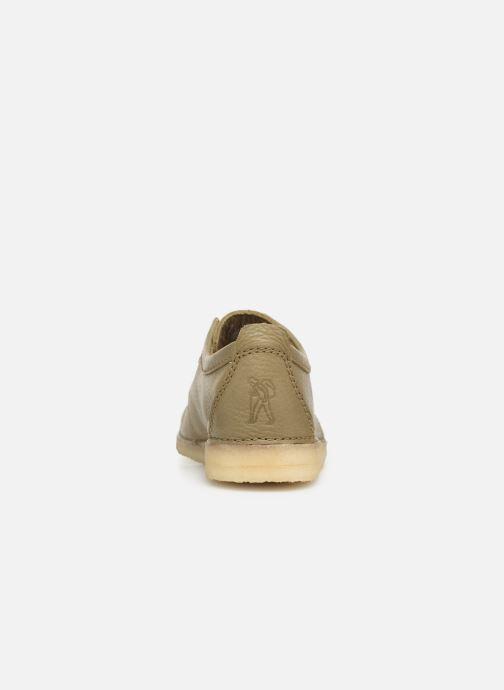 Chaussures à lacets Clarks Originals Ashton M Vert vue droite