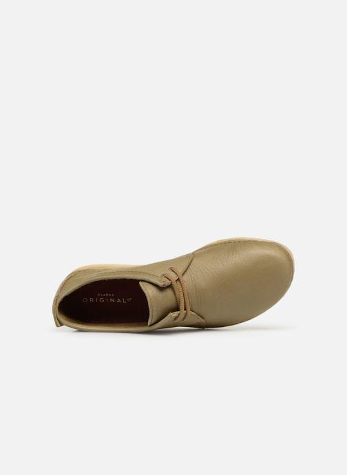 Zapatos con cordones Clarks Originals Ashton M Verde vista lateral izquierda