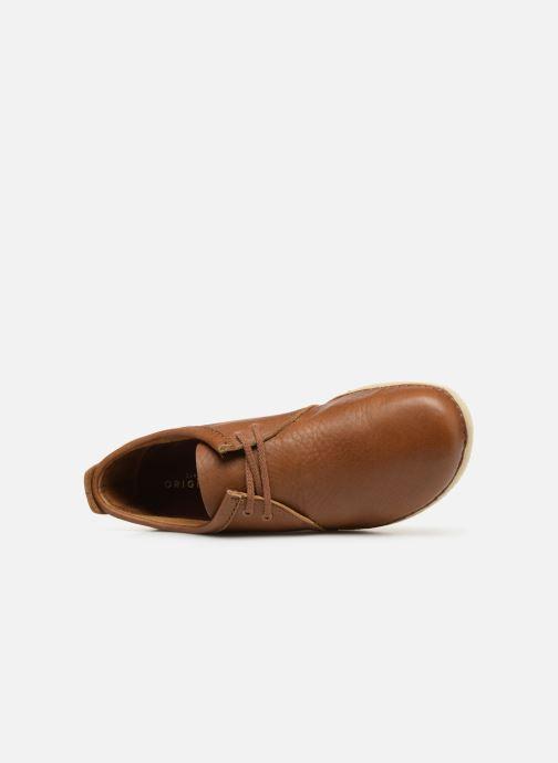 Zapatos con cordones Clarks Originals Ashton M Marrón vista lateral izquierda