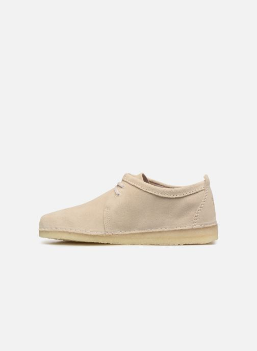 Chaussures à lacets Clarks Originals Ashton M Beige vue face