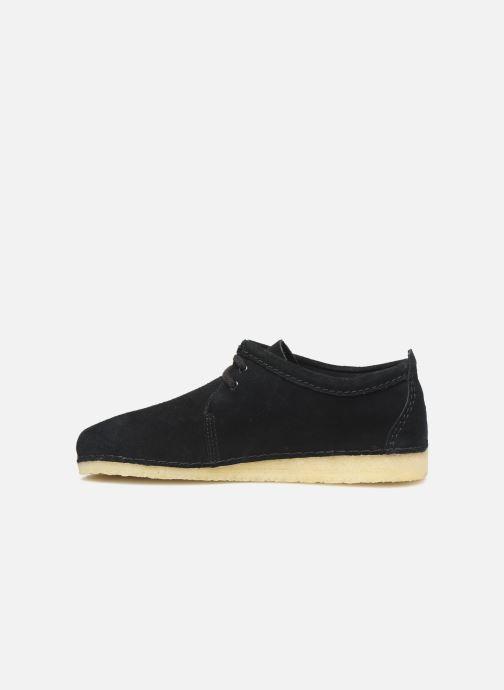 Zapatos con cordones Clarks Originals Ashton M Negro vista de frente