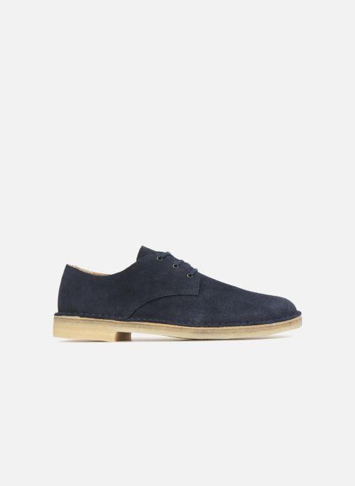 8c2539a3c03417 Chaussures à lacets Clarks Originals Desert Crosby Bleu vue derrière