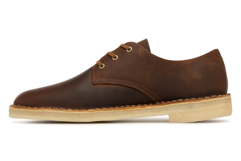 Chaussures à lacets Clarks Originals Desert Crosby Noir vue face