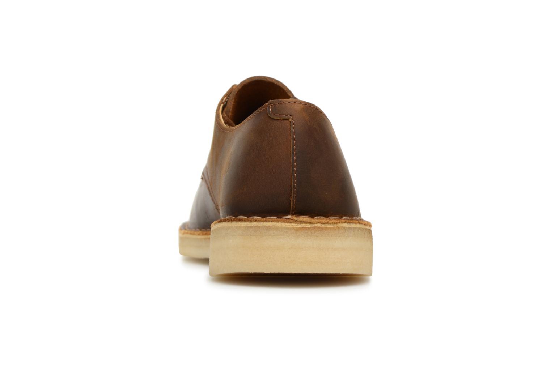Chaussures à lacets Clarks Originals Desert Crosby Noir vue droite