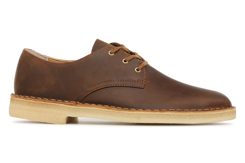 Chaussures à lacets Clarks Originals Desert Crosby Noir vue derrière