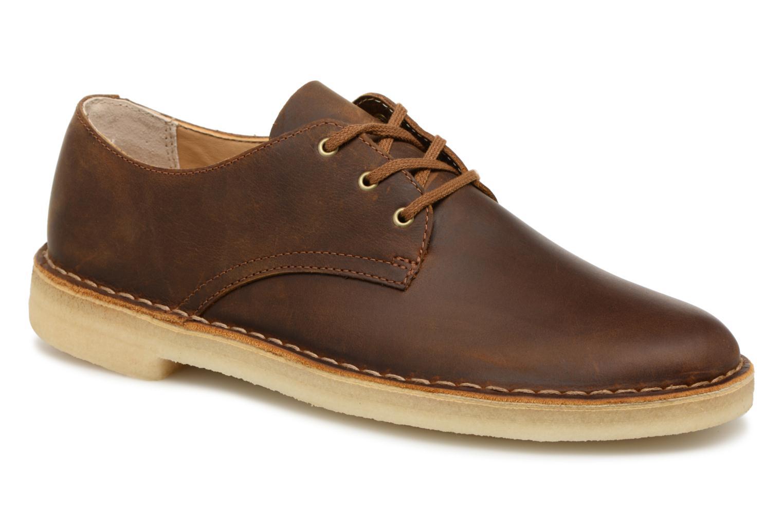 Chaussures à lacets Clarks Originals Desert Crosby Noir vue détail/paire