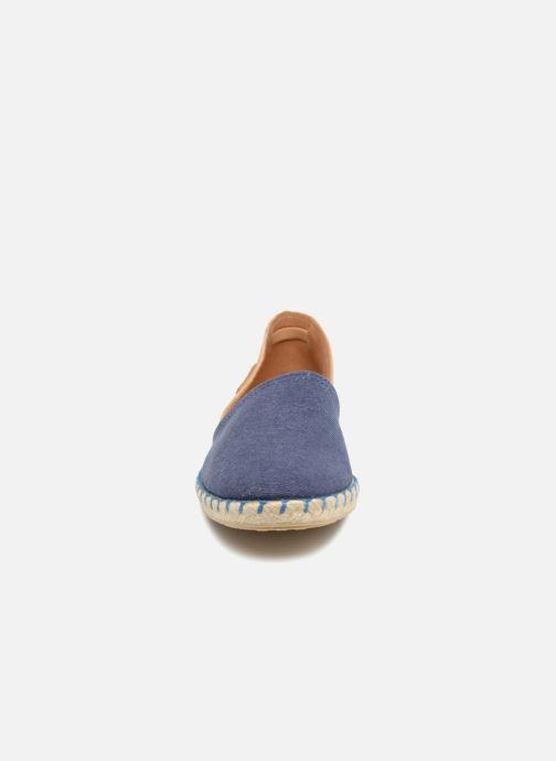 Espadrilles Pataugas Esteve/T Bleu vue portées chaussures