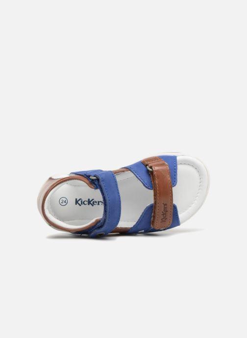 Sandalen Kickers Soan Blauw links