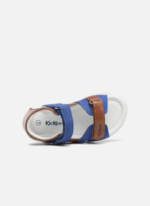 Sandalen Kickers Soan Blauw links