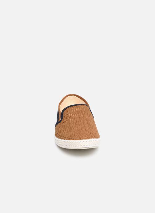 Mocassins Rivieras Pegase Bleu vue portées chaussures