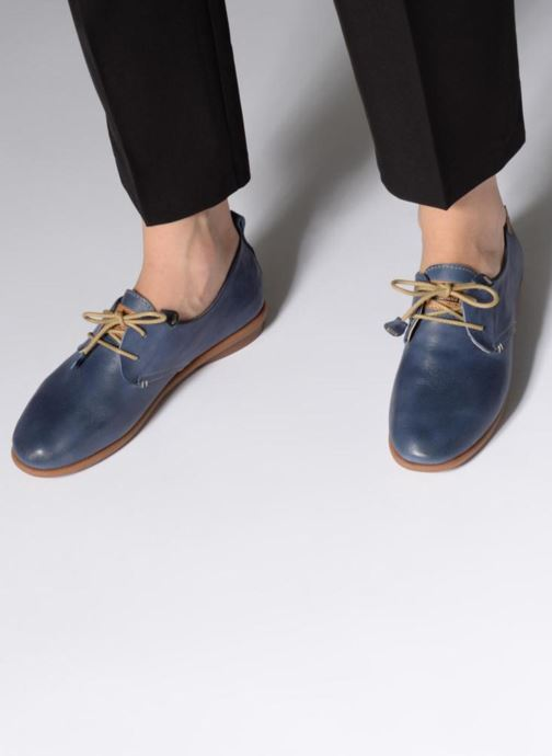 Lace-up shoes Pikolinos Calabria W9K-4623 Blue view from underneath / model view