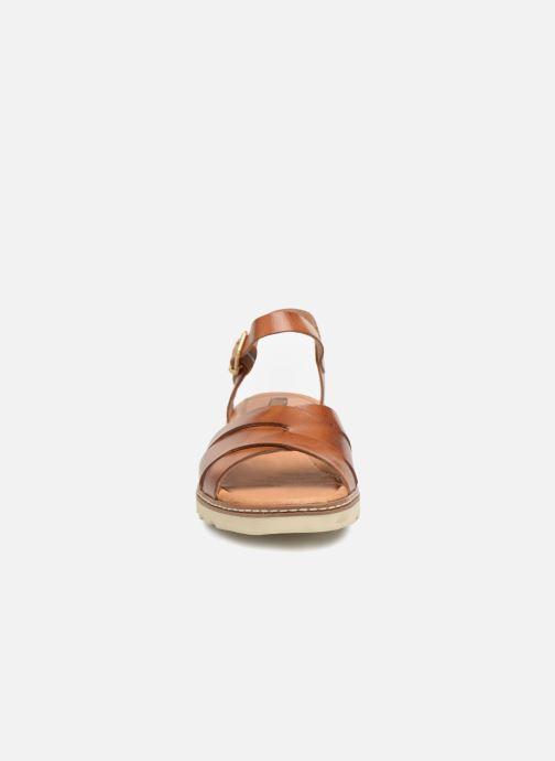 Sandales et nu-pieds Pikolinos Alcudia W1L- 0955 Marron vue portées chaussures
