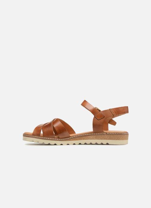 Sandales et nu-pieds Pikolinos Alcudia W1L- 0955 Marron vue face