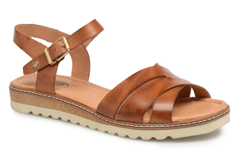 Sandales et nu-pieds Pikolinos ALCUDIA W1L / 0955 brandy Marron vue détail/paire
