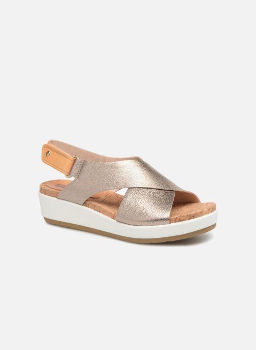 Sandales et nu-pieds Pikolinos MykonosW1G-0757CL Argent vue détail/paire