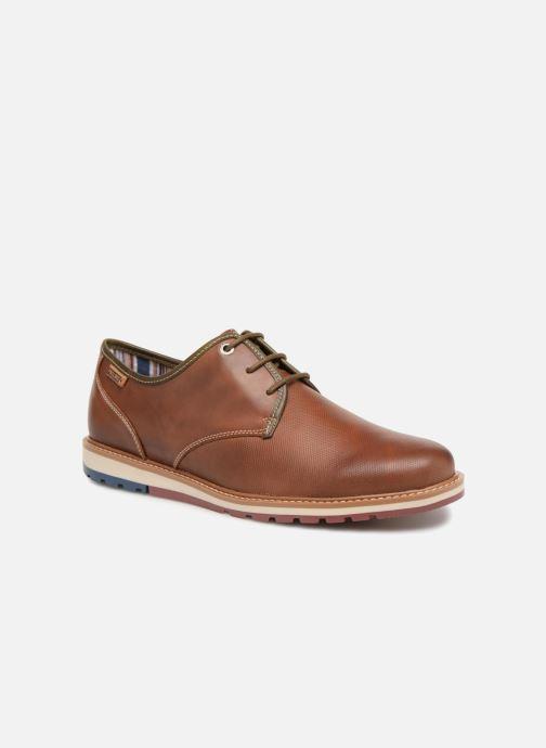 1a752a4d5 Zapatos con cordones Pikolinos BERNA M8J   4224 cuero Marrón vista de  detalle   par